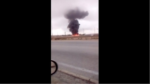 Driver in Malta captures deadly military plane crash