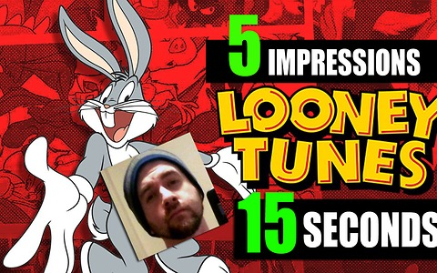 Speed Impressionist does 5 Looney Tunes voices in 15 seconds