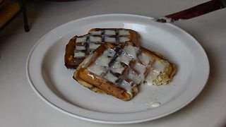 How to Make Cinnamon Roll Waffles - Video