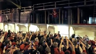 Wisconsin Fans Celebrate Thrill Ride to Final Four - Video
