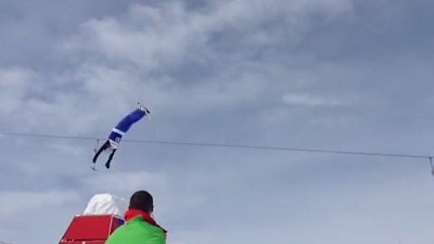 Wipeout Landing After Somersault Attempt