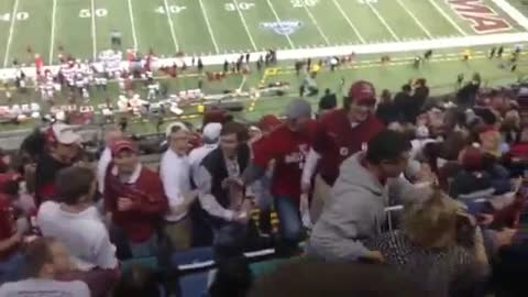 Crazy Woman Launches Herself In Fight at Sugar Bowl