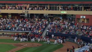 Wild bench-clearing brawl during minor league game - Video