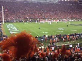 Auburn - Alabama Football Game Ending From Fan's View