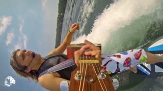Surfing, Singing and Playing Guitar at Same Time! - Video