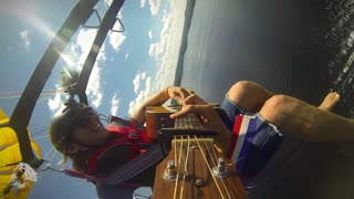 Parasailing and Playing Guitar at the Same Time! - Video