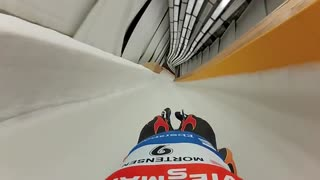 POV Luge From Olympic Track In Sochi, Russia - Video