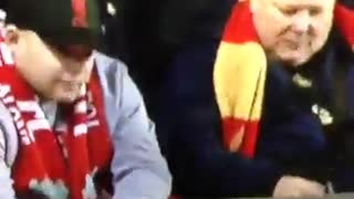 Aston Villa Fan Doesn't Help Player - Video
