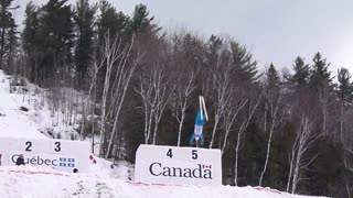 Mac Bohonnon, USA, Silver Medal Aerial Skiing triple flip - Video