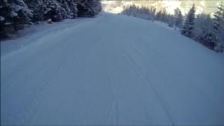 Point of View Ski Wipe Out! - Video