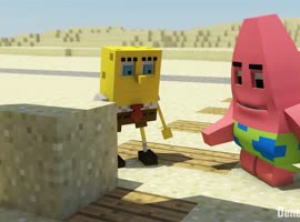 """Spongebob meets Minecraft"" - Minecraft Animation"
