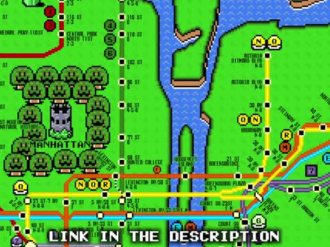 Check Out What The NYC Subway Map Looks Like In Super Mario World