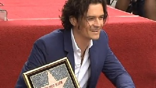 Orlando Bloom Honored With Star On Hollywood Boulevard - Video