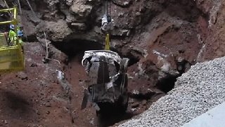 1.5 Millionth Corvette Recovered from Sinkhole - Video
