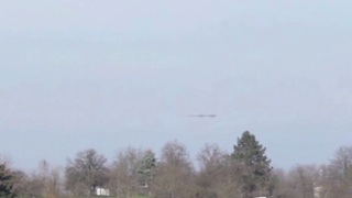 Cigar-shaped UFO over Mulhouse, France - Video
