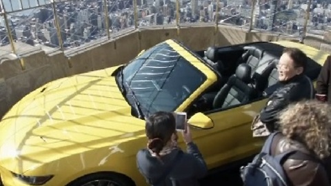 Ford Mustang Celebrates 50 Years Atop The Empire State Building