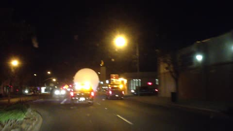 Unknown Object Escorted By California Police?