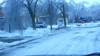 Damage From Major Ice Storm In Toronto