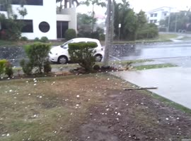 Insane Hail Storm Hits Australia's Sunshine Coast - Video