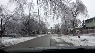 Damage From Toronto Ice Storm 2013