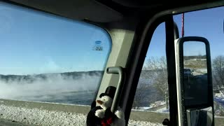 Extreme Weather Causes Mississippi River to Steam - Video
