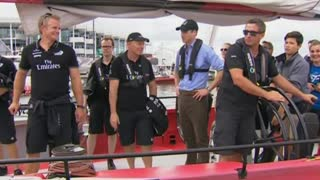 Duke And Duchess Of Cambridge Visit Auckland Harbour - Video