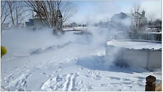 Shooting Boiling Water From Water Gun In Extreme Cold Turns Into A Surprise
