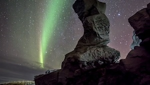 Beautiful Northern Lights Timelapse Over Iceland - Video