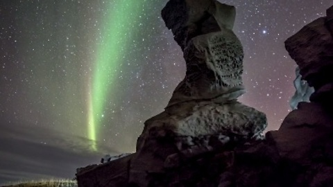 Beautiful Northern Lights Timelapse Over Iceland