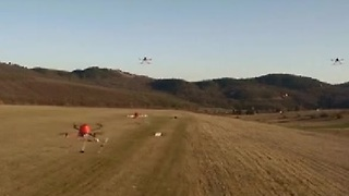 Autonomous Drones Learn To Fly As A Flock - Video