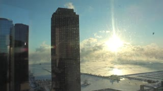 Polar Vortex Over Lake Michigan - Video