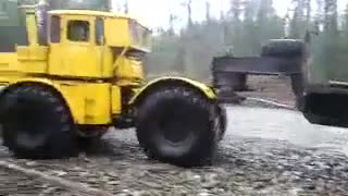 Trailer Truck Escapes River - Video