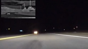 Thermal Image Night Vision on a Corvette - Video