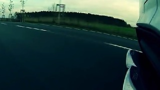 Mercedes C63 AMG Onboard Ride with Exhaust Shot - Video