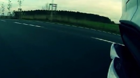 Mercedes C63 AMG Onboard Ride with Exhaust Shot