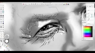 Incredibly Detailed Mandela Photoshop Sketch - Video