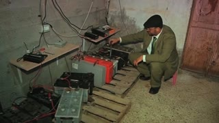 Old Batteries Power New Lights In Gaza - Video