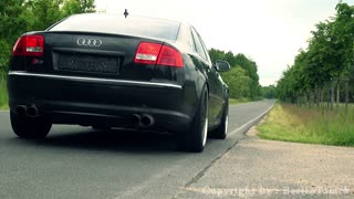 Audi S8 with Lamborghini Engine in Action - Video