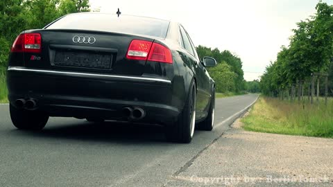 Audi S8 with Lamborghini Engine in Action