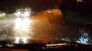 Flooding Swamps Roads in Sicilian City of Catania - Video
