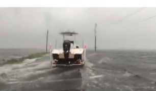 Roads Flooded in Grand Isle as Tropical Storm Cindy Approaches - Video