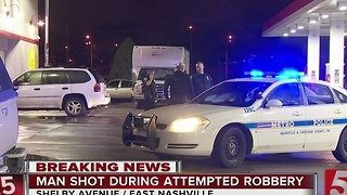 Man Shot During Attempted Robbery Near Nissan Stadium - Video