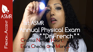 ASMR annual physical exam with Dr French my 1st medical check up roleplay Sleep - Video