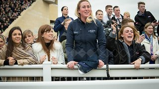Horse Racing Fan Jumps for Joy After Winning 50-1 on First Day of Cheltenham - Video