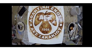 Coffee artist commemorates historic Greek football achievement - Video