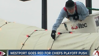 Westport goes red for Chiefs playoff push - Video