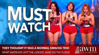 They Thought It Was A Normal Singing Trio. But What Happened Left The Judges' Jaws On The Floor - Video