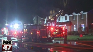 Condo fire in Meridian Township - Video