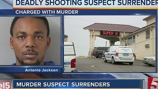 Man Accused Of Murder Surrenders To Police - Video