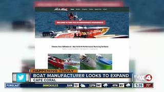 Boat manufacturer looks to expand in Cape Coral - Video
